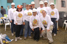 SSF Staff volunteering with Habitat for Humanity