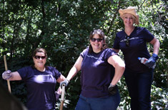 SSF staff volunteering at the Oakland Zoo