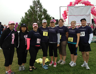 SSF walking to fight breast cancer