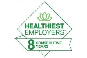 Healthiest Workplace Award for 8 consecutive years