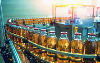 Image of beverage bottling