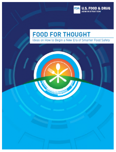 The cover page of the FDA's New Era of Smarter Food Safety Blueprint
