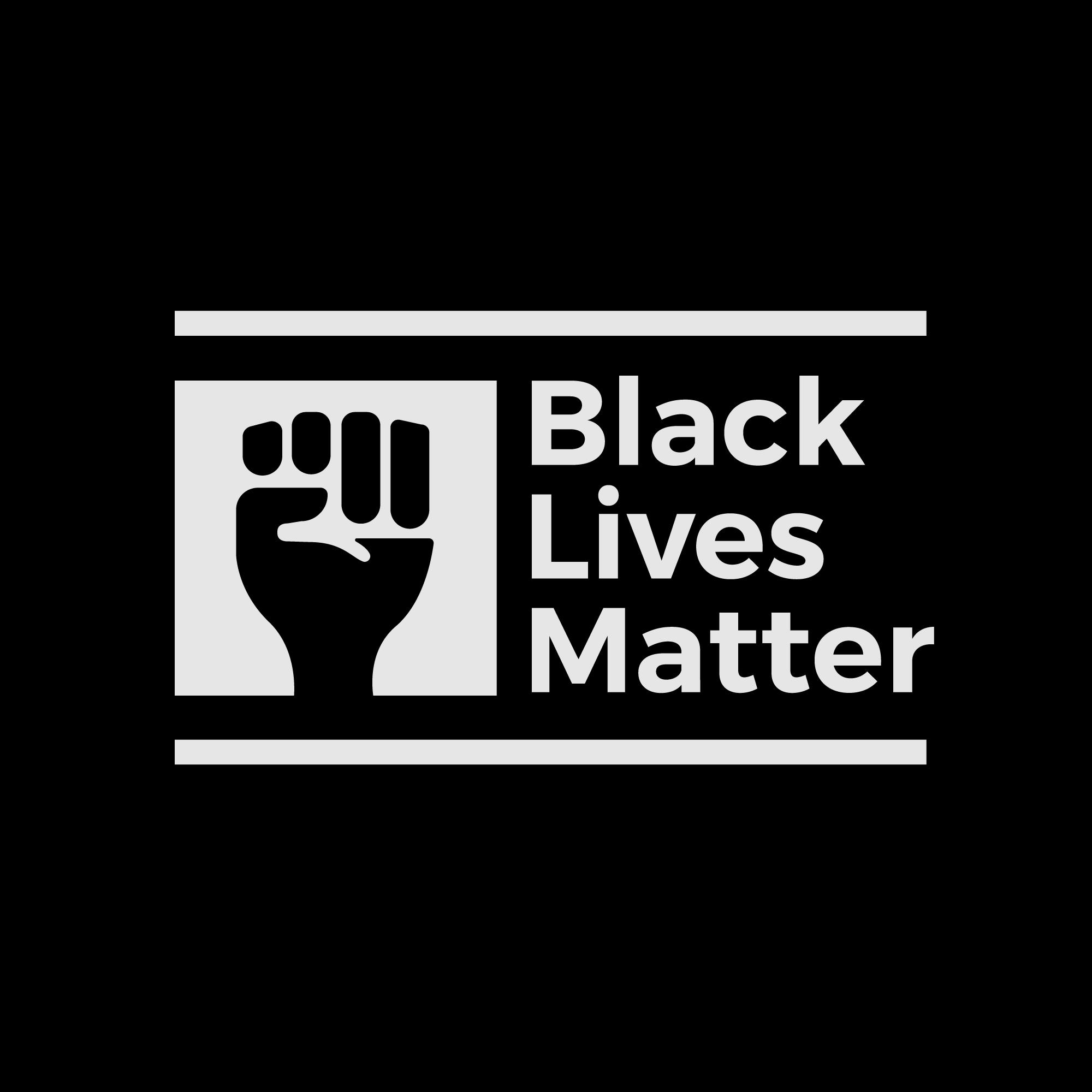 Black Lives Matter Logo and Text